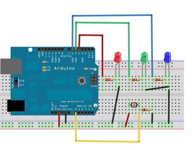 Controle de Luminosidade (LDR+LEDS)   Inovabots